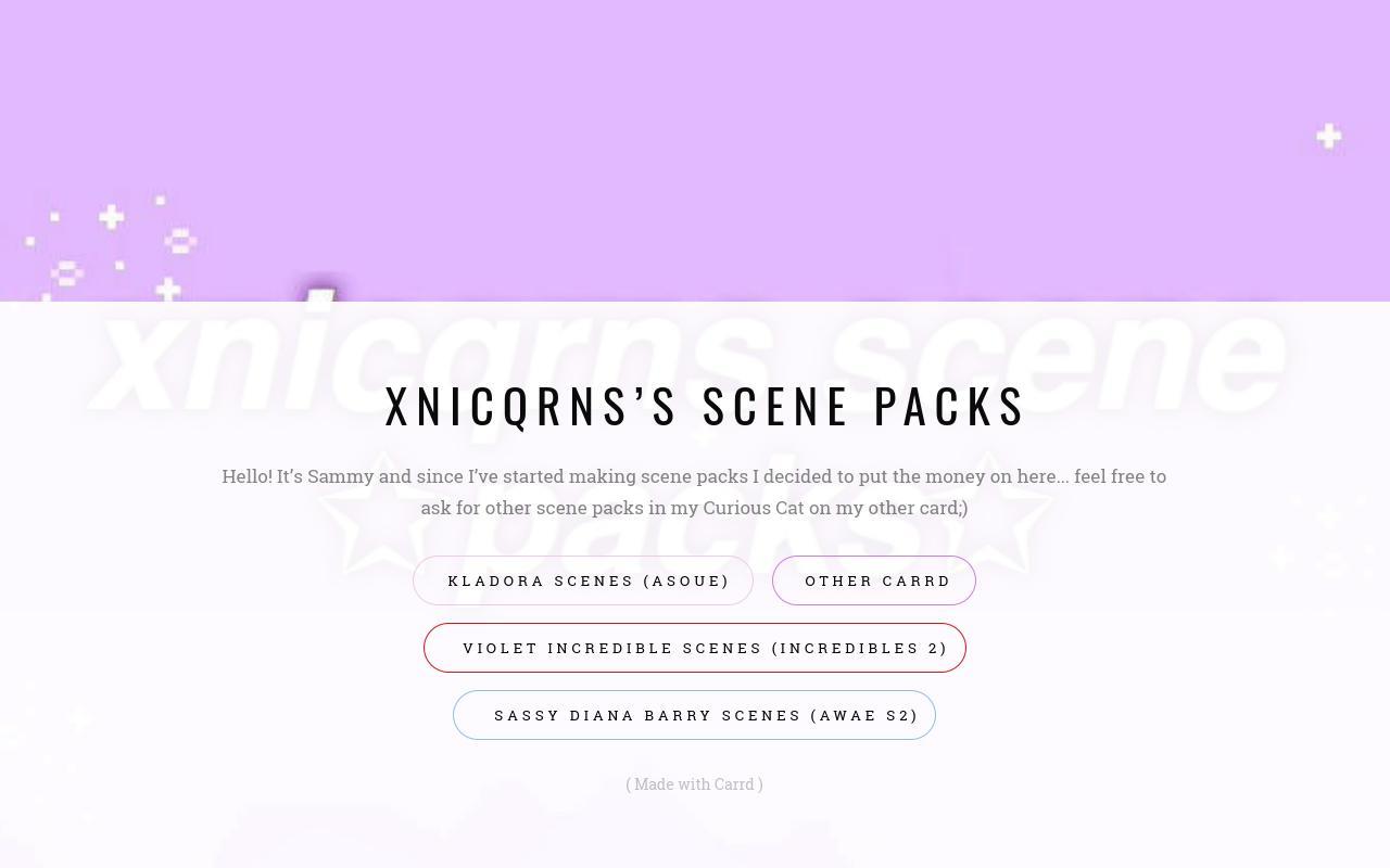 xnicqrns's scene packs